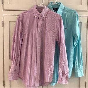 Bundle of 2 VV Men's S Button-Down Shirts